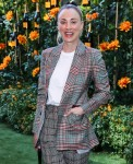 Actress Kaley Cuoco wearing a Missoni suit with Freda Salvador shoes arrives at the 10th Annual Veuve Clicquot Polo Classic Los Angeles held at Will Rogers State Historic Park on October 5, 2019 in Pacific Palisades, Los Angeles, California, United States.
