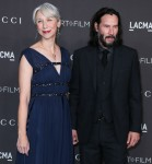 Alexandra Grant and Keanu Reeves arrive at the 2019 LACMA Art + Film Gala held at the Los Angeles County Museum of Art on November 2, 2019 in Los Angeles, California, United States.