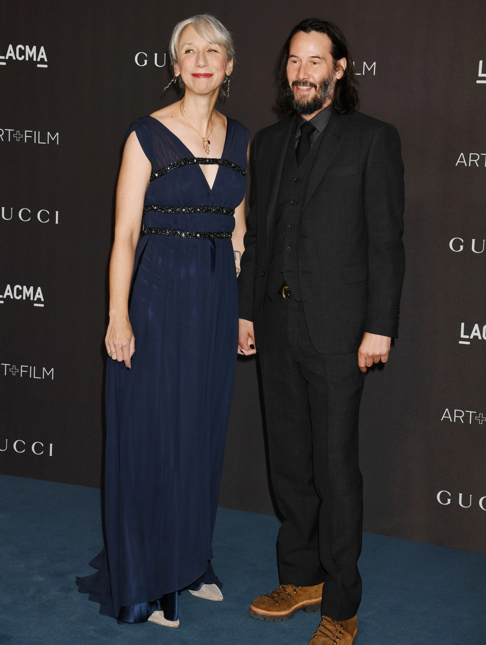 Alexandra Grant, Keanu Reeves at the 2019 LACMA Art + Film Gala at LACMA