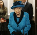 Britain's Queen Elizabeth II explores the collection at the new headquarters of the Royal Philatelic society in London on November 26, 2019.
