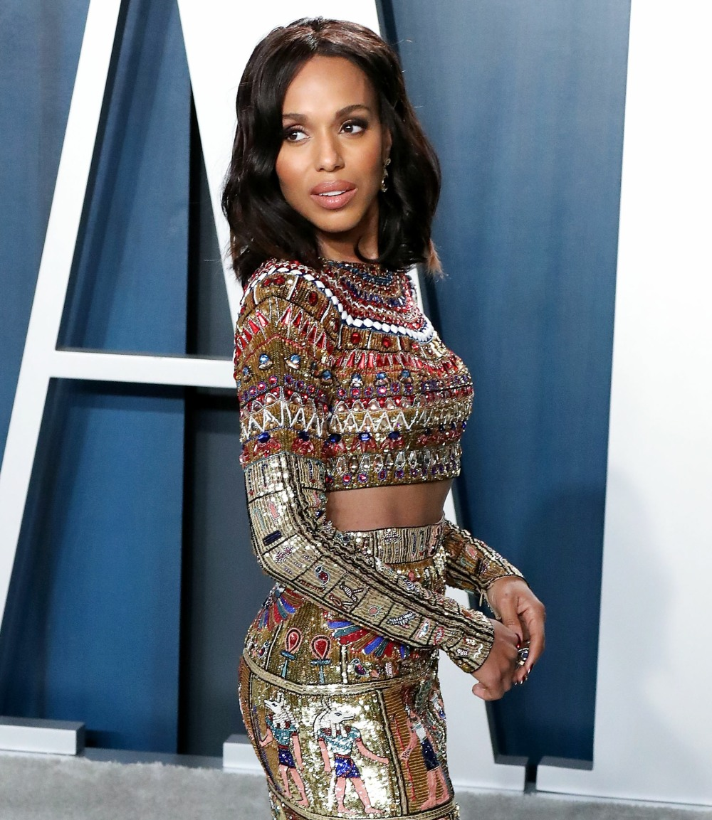 Kerry Washington arriva al Vanity Fair Oscar Party 2020 tenutosi al Wallis Annenberg Center per ...
