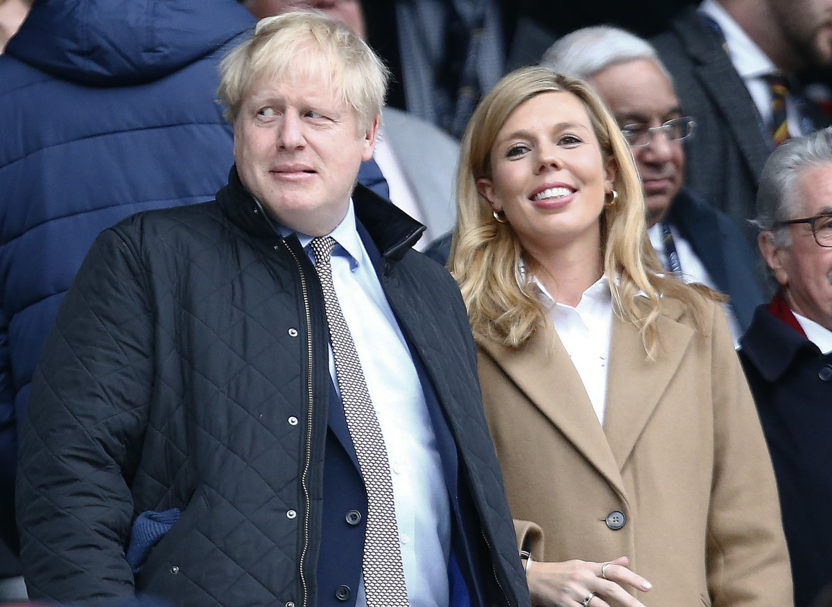 Boris Johnson with his partner Carrie Symonds