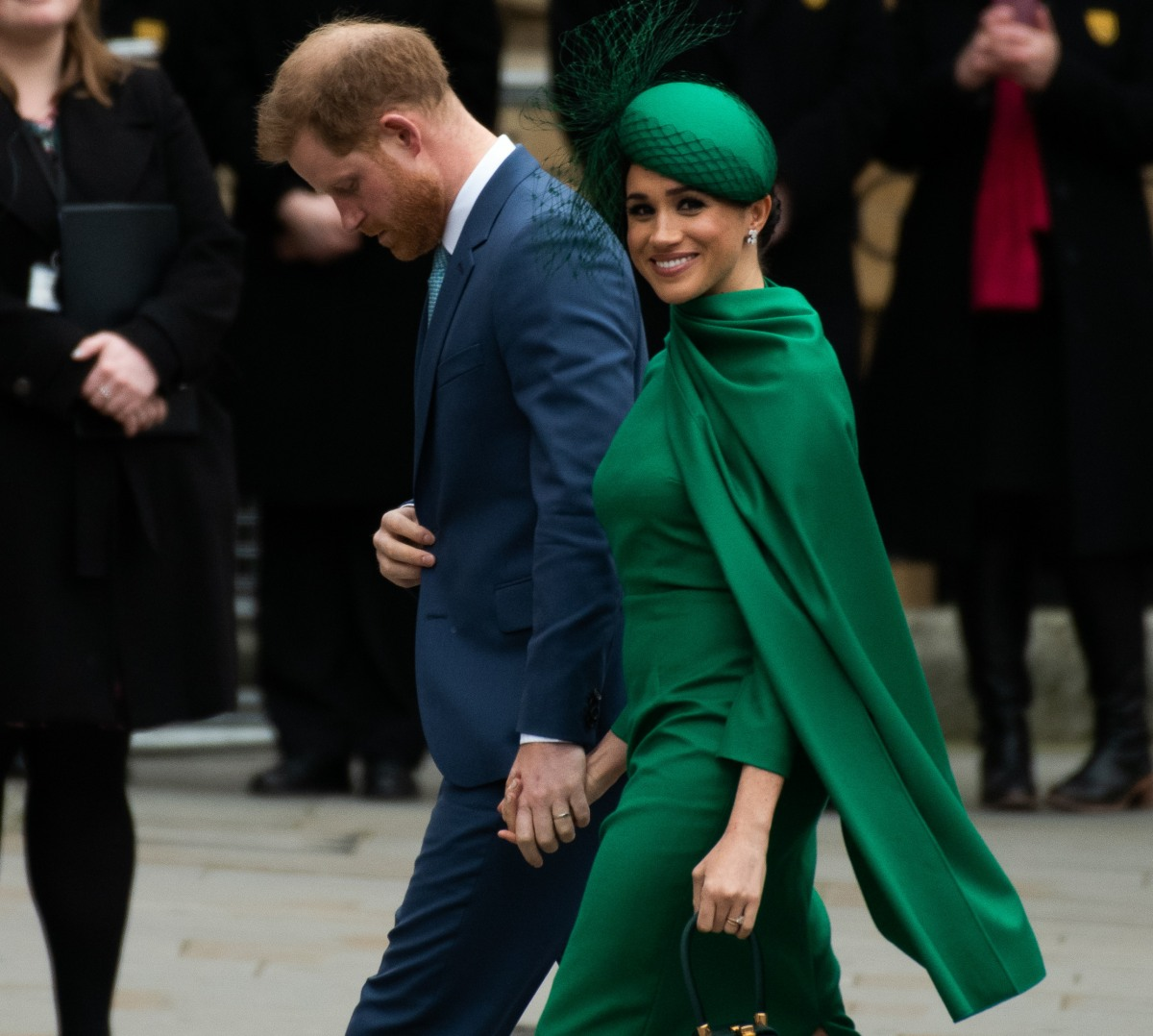 HRH The Duke Of Sussex Prince Harry and HRH The Duchess of Sussex Meghan attends The Commonwealth Da...