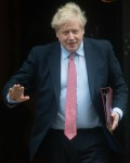 British Prime Minister Boris Johnson departs for PMQs - Downing Street, London, England, UK on Wedne...