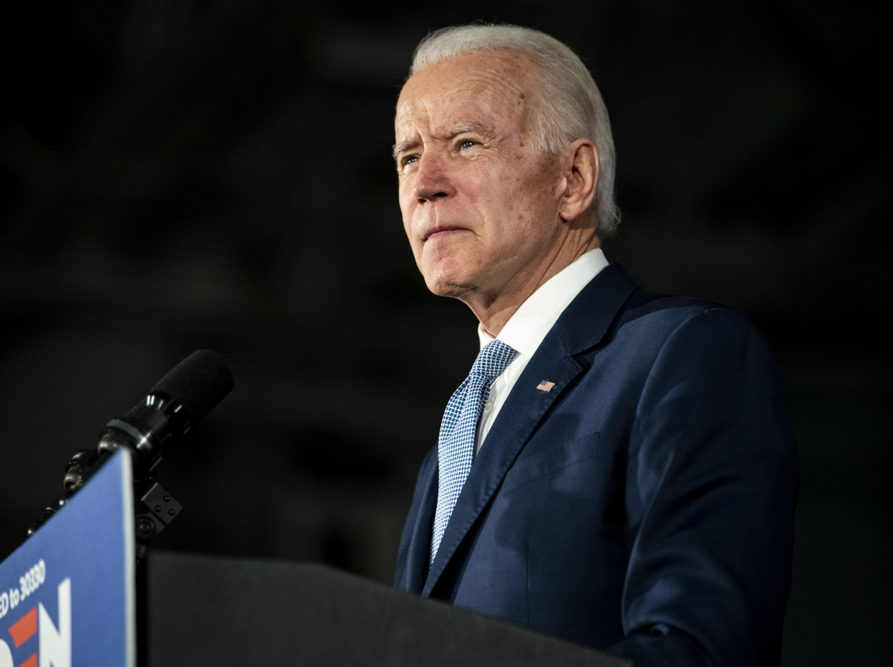 Democratic presidential candidate former Vice President Joe Biden speaks after being declared the winner in the South Carolina Democratic Primary