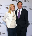 Andrew Cuomo gives support to Sandra Lee at the Tribeca Film Festival