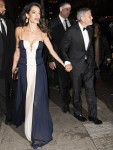 Amal and George Clooney exit Cipriani's after having dinner with Secretary-General of the United Nations António Guterres