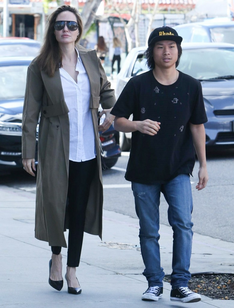 Angelina Jolie takes son Pax shopping on Melrose Avenue
