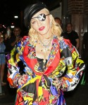 Madonna steps out to promote her new album in New York