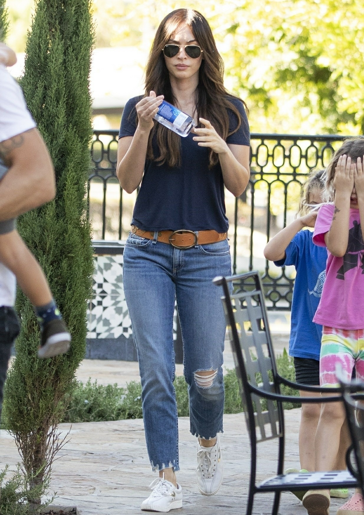 Megan Fox and Brian Austin Green take the kids to sushi
