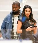 Kim Kardashian and Kanye West go shopping at the Dover Street Market