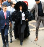 Cardi B shows up at Queens court dripping in feathers!