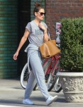 Katie Holmes looks casual after a Soulcycle class