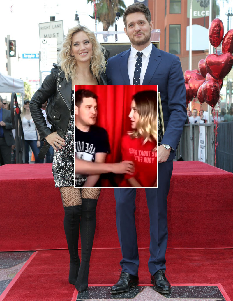 Michael Buble is honoured with Star on The Hollywood Walk Of Fame