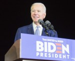 Former Vice President Joe Biden, 2020 Democratic presidential candidate, speaks during his Super Tue...
