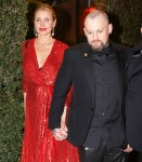 Cameron Diaz and Benji Madden leaving Gwyneth Paltrow and Brad Falchuk's engagement party