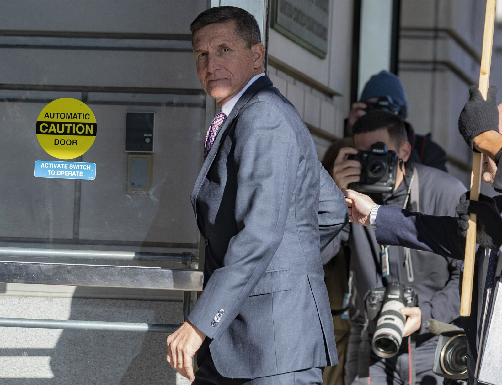 General Michael Flynn arrives for sentencing