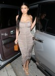 Kylie Jenner, Kourtney, Kim and Khloe Kardashian leave Giorgio Baldi after dinner