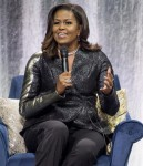 Michelle Obama on stage at the Ziggo Dome
