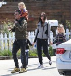 Megan Fox and Brian Austin Green are seen with their kids at the farmers market and target