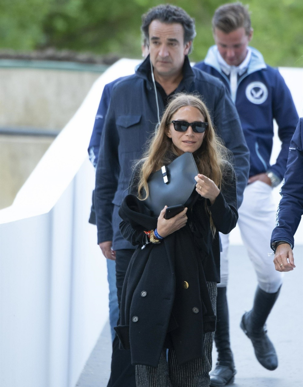 Olivier Sarkozy and his wife Mary-Kate Olsen attend the Global Champions Tour CSI2 Madrid 2019