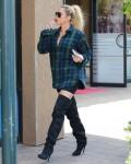 Khloe Kardashian and Scott Disick film at Maxwell Dogs store