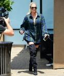 Khloe Kardashian arrives for filming in Studio City