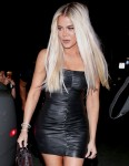 Khloe Kardashian looks stunning in a leather dress as she exits an afterparty in Los Angeles!