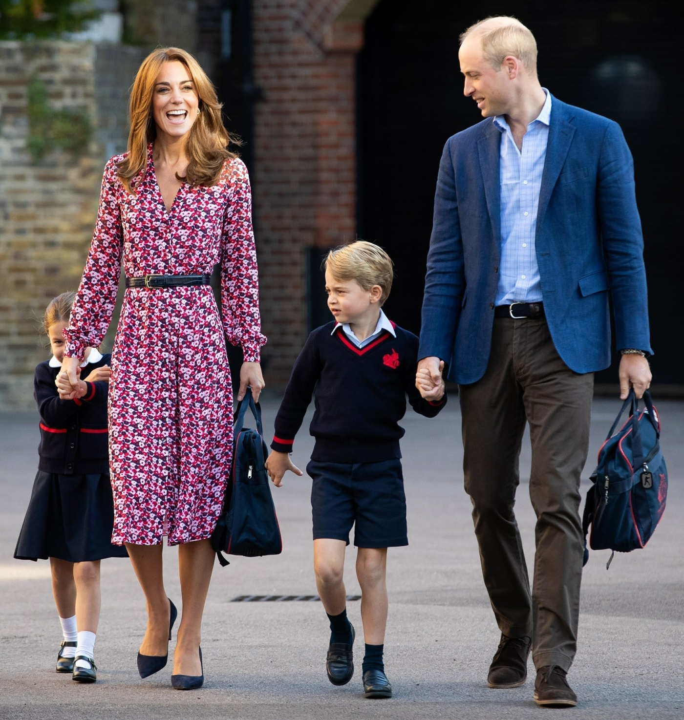 Princess Charlotte is spotted on her first day of School in London!