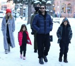 Scott Disick and his kids are joined by girlfriend Sofia Richie for an outing in Downtown Aspen