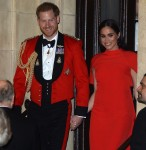 Prince Harry and Meghan Markle exit The Royal Albert Hall