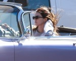 Kendall Jenner goes for a cruise in her classic convertible Cadillac amid coronavirus outbreak