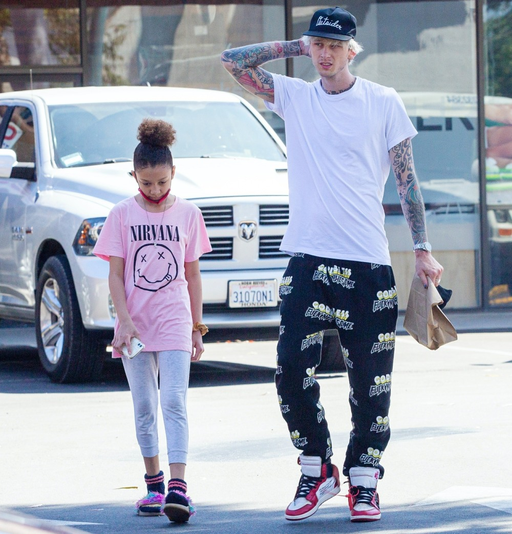 Machine Gun Kelly spends time with his daughter after date with Megan Fox!