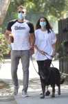 Ben Affleck and Ana de Armas clutch hands on morning Dog Walk