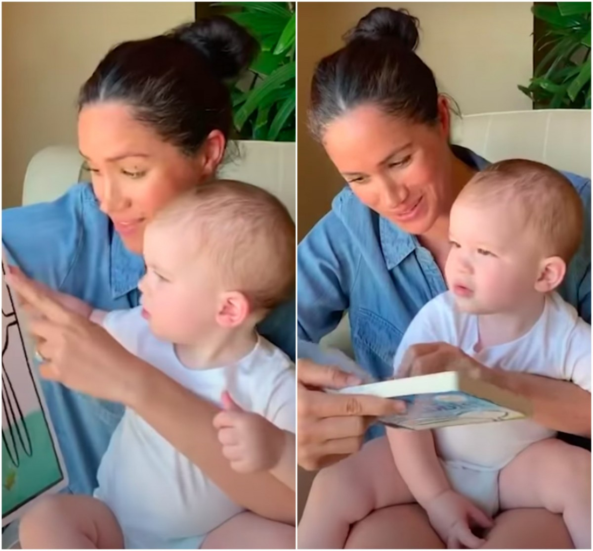 Meghan reading to Archie