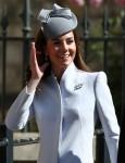 Duchess of Cambridge arrive for Easter Sunday service at Windsor Castle, Berkshire. 21st April 2019