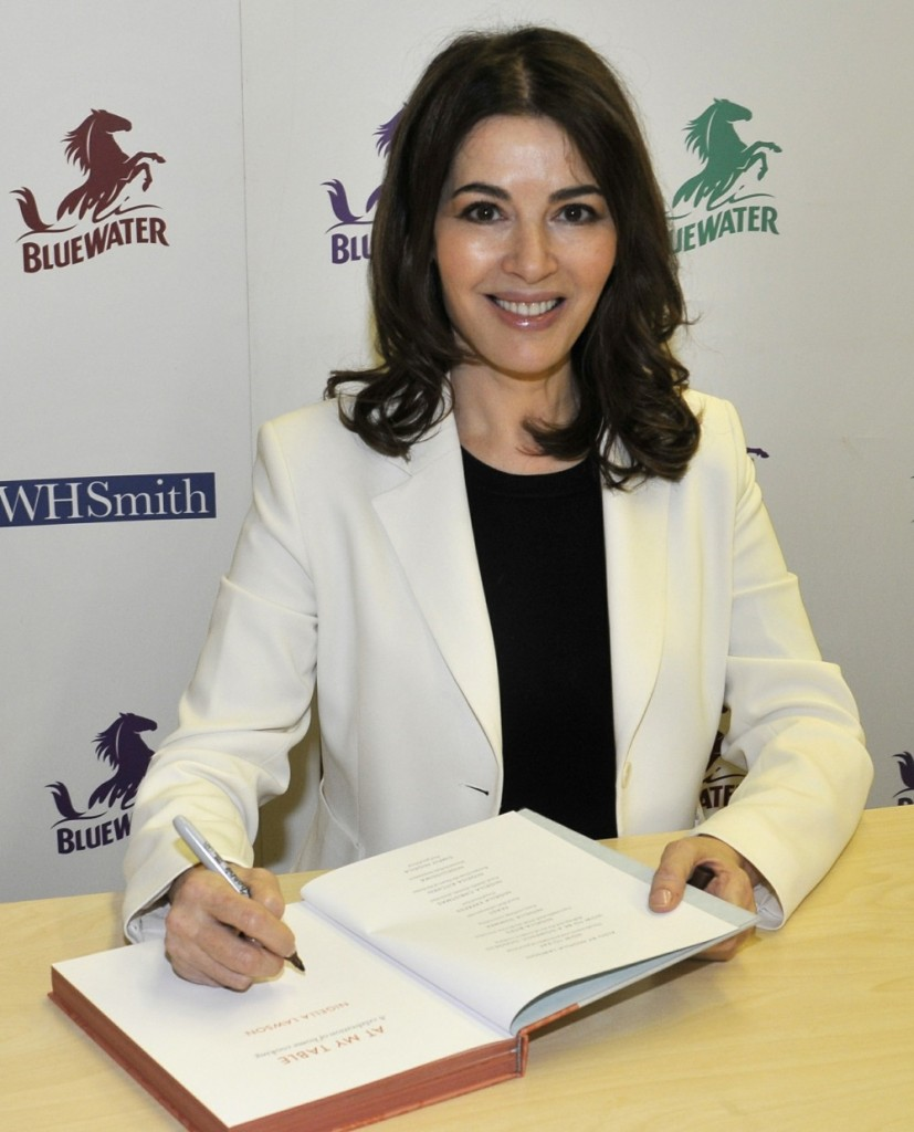 Nigella Lawson at a signing of her new  book 'At My Table: A Celebration Of Home Cooking'
