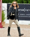Mary Kate Olsen jumping in Hampton Classic Horseshow