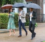 Prince William, Duke of Cambridge and Prince Harry attend an event at Kensington Palace