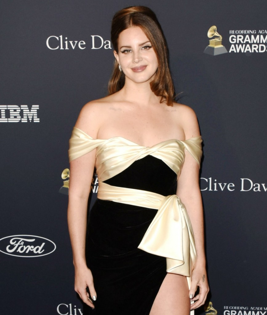 "Lana Del Rey arrives at the Pre GRAMMY Gala and GRAMMY Salute to Industry Icons Honoring Sean ""Diddy"" Combs at The Beverly Hilton Hotel on January 25, 2020 in Beverly Hills, California
