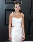 Singer Dua Lipa wearing Vivienne Westwood arrives at the 62nd Annual GRAMMY Awards held at Staples Center on January 26, 2020 in Los Angeles, California, United States.