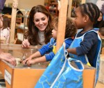 The Duchess of Cambridge takes her landmark survey to London during a breakfast visit to LEYF (London Early Years Foundation) at Stockwell Gardens Nursery & Pre-school.