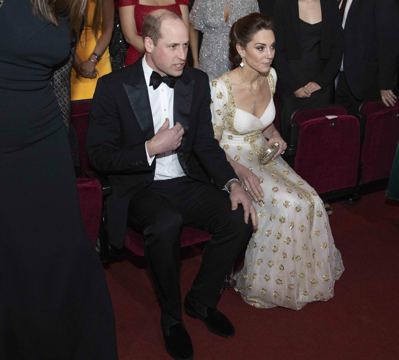 Il duca e la duchessa di Cambridge partecipano alla cerimonia dell'EE British Academy Film Awards presso la Royal Albert Hall.