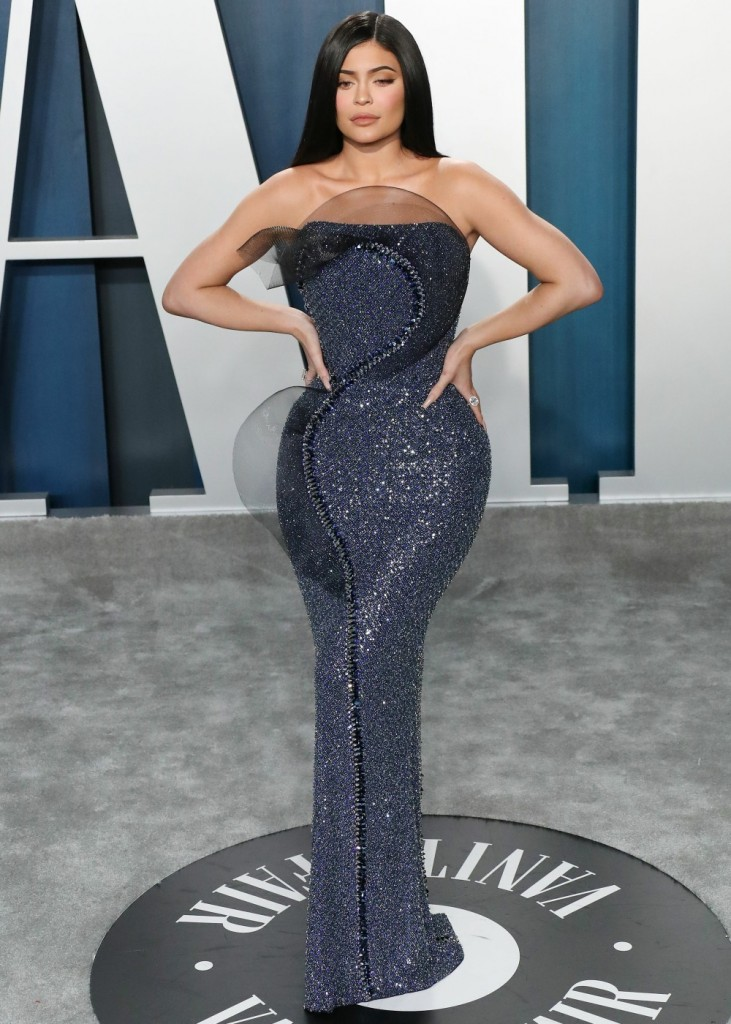 Kylie Jenner arrives at the 2020 Vanity Fair Oscar Party held at the Wallis Annenberg Center for the...