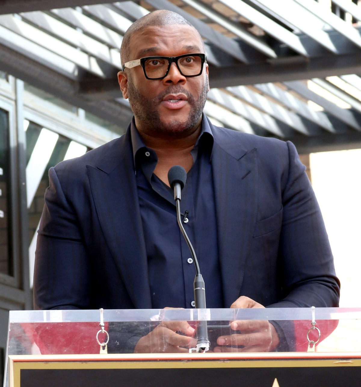 Tyler Perry at the induction ceremony fo...