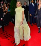 Gwyneth Paltrow steps out for Met Gala in gold