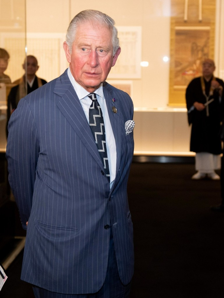 Prince Charles visits The Zojoji Temple In Tokyo