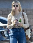 Emma Roberts goes to a meeting on a Saturday afternoon