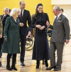 Prince William, Catherine, Prince Charles and his wife Britain's Camilla, during their visit to the Defence Medical Rehabilitation Centre