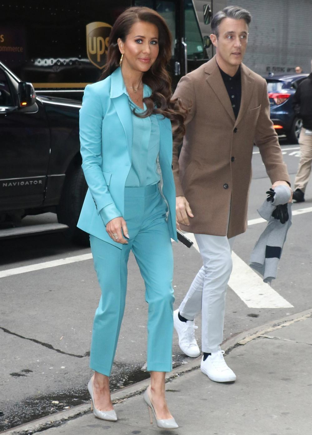 Jessica Mulroney arrives at Strahan, Sara & Keke